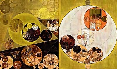 University Of California Digital Art - Abstract Painting - Zinnwaldite Brown by Vitaliy Gladkiy