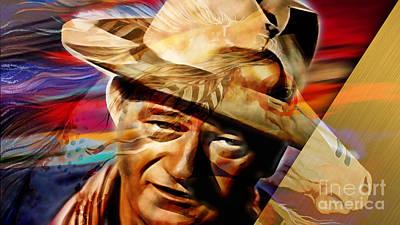 John Mixed Media - John Wayne Collection by Marvin Blaine