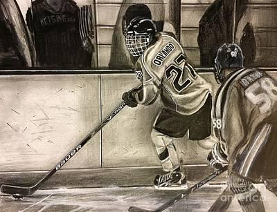 Youth Hockey Drawing - #27 Kenny Orlando  by Gary Reising