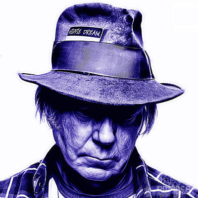 Neil Mixed Media - Neil Young Collection by Marvin Blaine