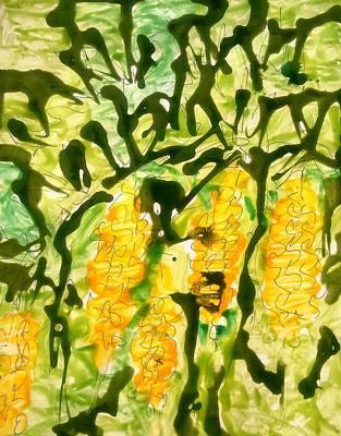 Divine Flowers Print by Baljit Chadha