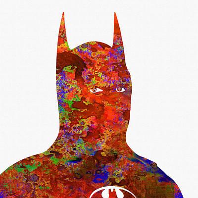 Batman Print by Elena Kosvincheva