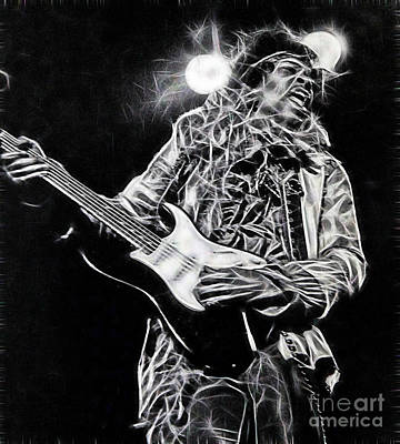 Jimi Mixed Media - Jimi Hendrix Collection by Marvin Blaine