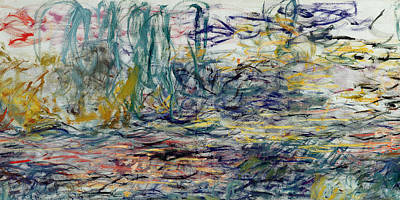 Loose Painting - Waterlilies by Claude Monet