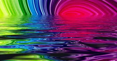 R.i.p Mixed Media - Heavens Waves - Sri Yantra by Sir Josef Social Critic - ART