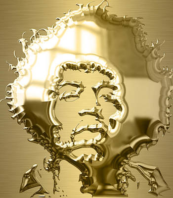 Singer Mixed Media - Jimi Hendrix Collection by Marvin Blaine