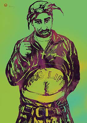 2pac Tupac Shakur New Pop Art Poster Print by Kim Wang