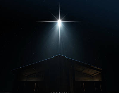 Catholicism Digital Art - Abstract Nativity Scene by Allan Swart