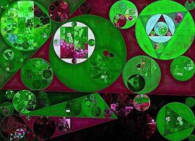 Lincoln Images Digital Art - Abstract Painting - Lincoln Green by Vitaliy Gladkiy