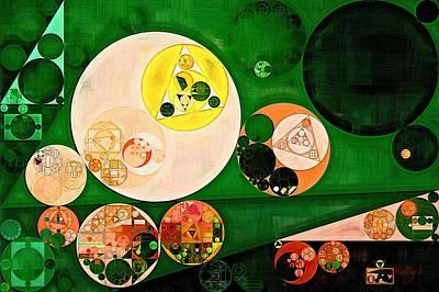 Phthalo Green Digital Art - Abstract Painting - Ochre by Vitaliy Gladkiy