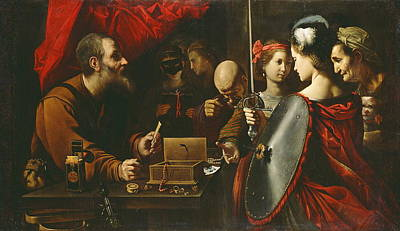 Painting - Achilles Among The Daughters Of Lycomedes by Pietro Paolini