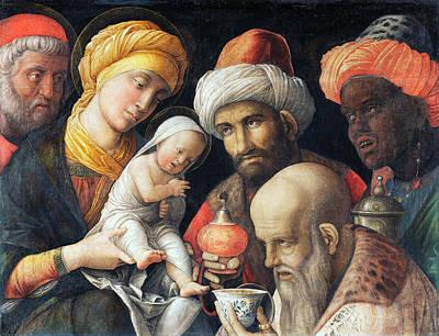 Adoration Magi Painting - Adoration Of The Magi by Andrea Mantegna