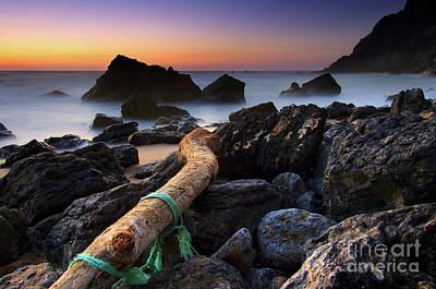 Surreal Landscape Photograph - Adraga Beach by Carlos Caetano