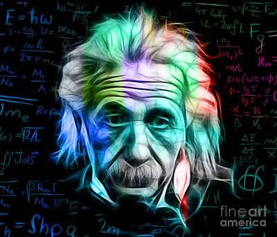 Einstein Mixed Media - Albert Einstein Collection by Marvin Blaine