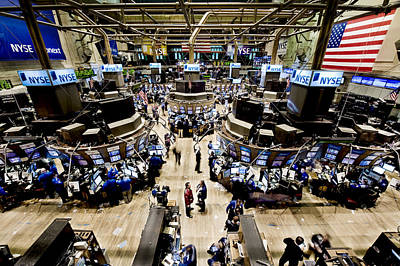 Nyse Photograph - An High Angle View Of The New York by Justin Guariglia