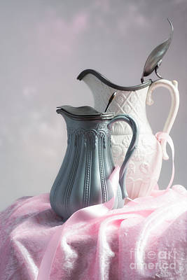 Water Jug Photograph - Antique Jugs by Amanda Elwell