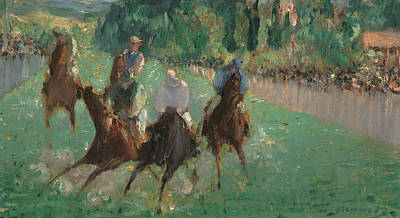 Sprinting Painting - At The Races by Edouard Manet