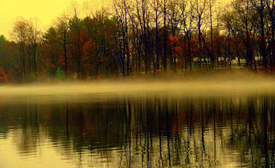 Eagls Digital Art - Autumn Lake by Aron Chervin