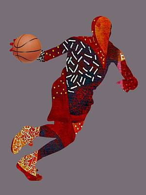 Basketball Collection Print by Marvin Blaine