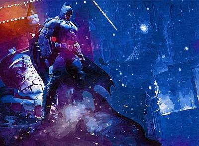 Batman Digital Art - Batman And Print by Egor Vysockiy