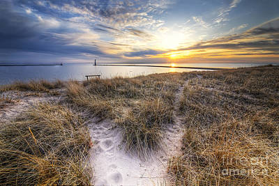 Beach In Frankfort Print by Twenty Two North Photography