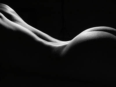 Artistic Photograph - Black And White Nude by David Quinn