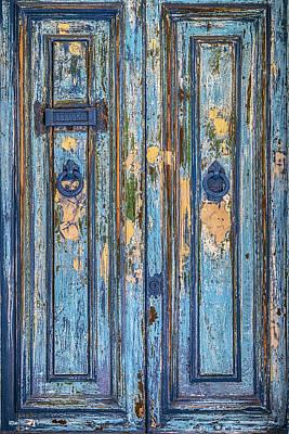 Letter Box Photograph - Blue Door by Joana Kruse