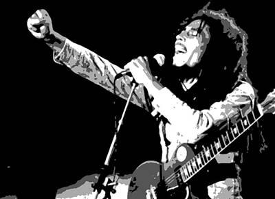 Music Painting - Bob Marley by Dan Carman