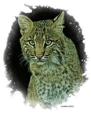 Bobcat Print by Larry Linton