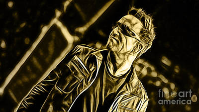 Bono Mixed Media - Bono U2 Collection by Marvin Blaine