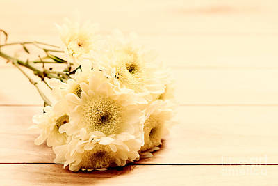 Young Photograph - Bouquet Of Fresh Spring Flowers On Rustic Wood by Michal Bednarek