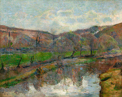 Marine Painting - Brittany Landscape by Paul Gauguin