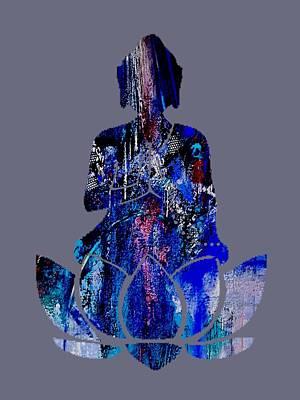 Urban Mixed Media - Buddha by Marvin Blaine