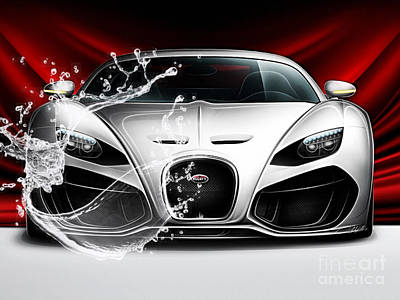 Car Mixed Media - Bugatti Collection by Marvin Blaine
