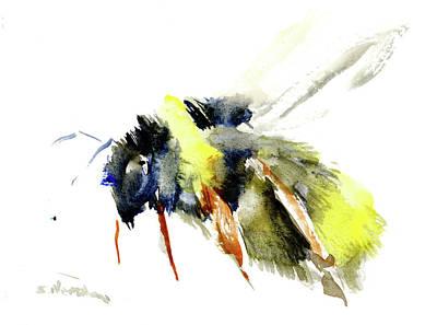 Bumblebee Drawing - Bumblebee by Suren Nersisyan