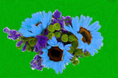 Flower Painting - Bunch Of Pretty Flowers by Bruce Nutting
