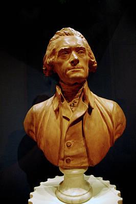 Stairs Photograph - Bust Of Thomas Jefferson  by LeeAnn McLaneGoetz McLaneGoetzStudioLLCcom