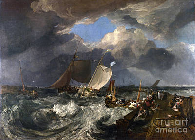 Apprehension Painting - Calais Pier by JMW Turner