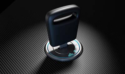 Engaging Digital Art - Car Key In Ignition by Allan Swart