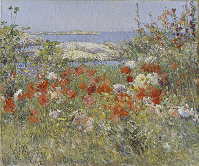 Childe Hassam Painting - Celia Thaxter's Garden by Childe Hassam
