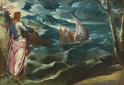 Miracle Painting - Christ At The Sea Of Galilee by Tintoretto