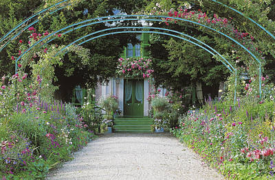 The Pathway Photograph - Claude Monet's Garden At Giverny by French School