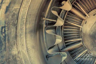 Closeup Of A Jet Engine  Print by Anna Vaczi