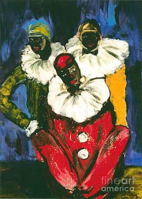 3 Clowns Original by Aldonia Bailey