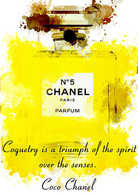 Chanel No 5 Motivational Inspirational Independent Quote 5 Print by Diana Van