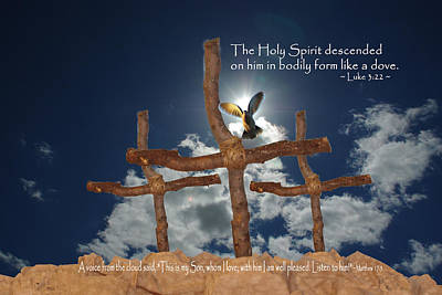 Pentecost Photograph - 3 Crosses Descent Of Holy Spirit by Robyn Stacey