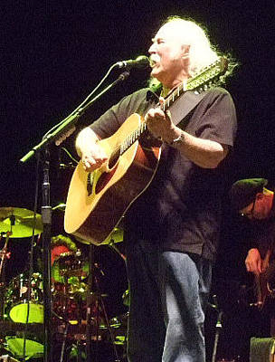David Crosby Photograph - David Crosby Live 2008 by Randy Walton