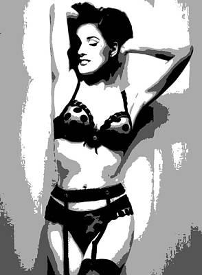 Dita Von Teese Painting - Dita Von Teese by Dan Carman