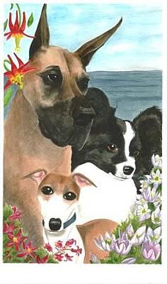 3 Dogs Original by Christine Winship