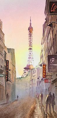 Patina Painting - Eiffel Tower Paris France by Irina Sztukowski
